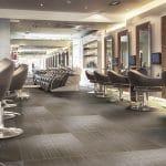interior of modern hair salon