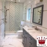 White Carrara Marble Fuda Tile 12